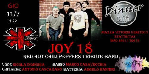 Joy 18 Red Hot Chili Peppers tribute band live @dinner caffè