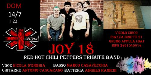 Joy 18 Red Hot Chili Peppers tribute band live @Vicolo Cieco