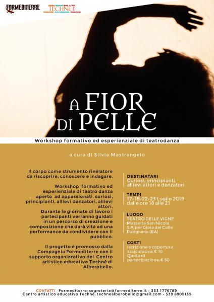 """Workshop di TeatroDanza """"A FIOR DI PELLE"""""""