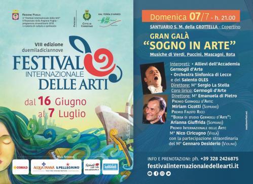 Sogno in Arte: il Gran Galà finale dell'ottava edizione del Festival Internazionale delle Arti