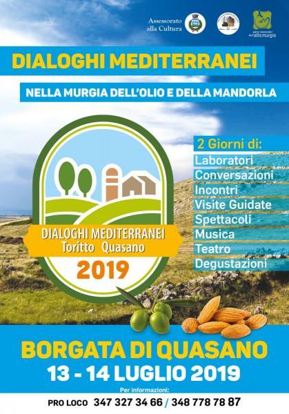 Dialoghi mediterranei… Nella Murgia dell'olio e della mandorla