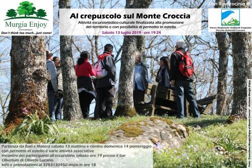 Al crepuscolo sul Monte Croccia