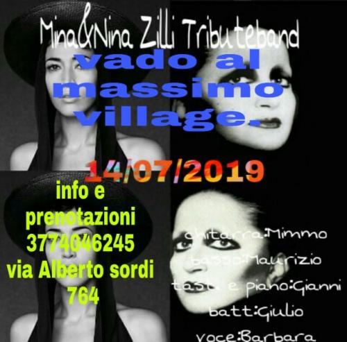 VADO AL MASSIMO VILLAGE MUSICA LIVE CON IL TRIBUTE BAND MINA E NINA ZILLI