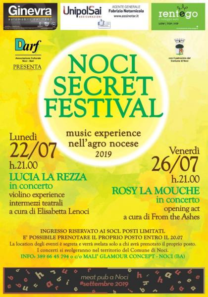 NOCI SECRET FESTIVAL - Music experience nell'agro nocese