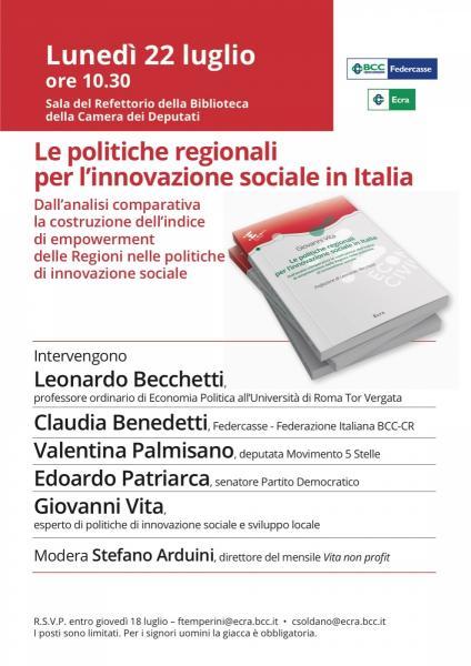 Le politiche regionali per l'innovazione sociale in Italia