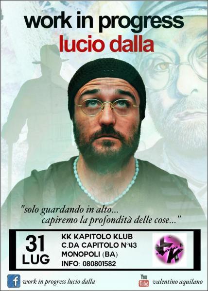 Work in Progress Lucio Dalla Tribute Band Live