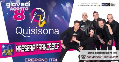 """Cena Spettacolo """"Serata Caprese"""" in Masseria Francesca"""