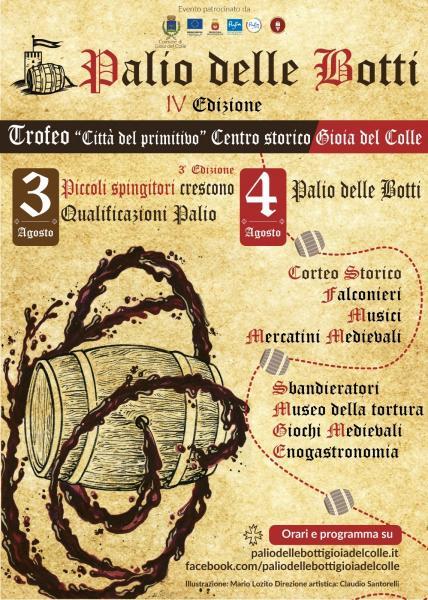 """Palio delle botti Gioia del Colle IV edizione ,trofeo """"Città del primitivo"""""""