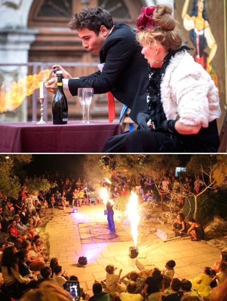 """""""The Squasciò & Girovaghi Circus"""": artisti di strada a La'nchianata  di Torricella (Ta), giovedì 15 agosto, per incantare e divertire adulti e bambini. A seguire dj set."""