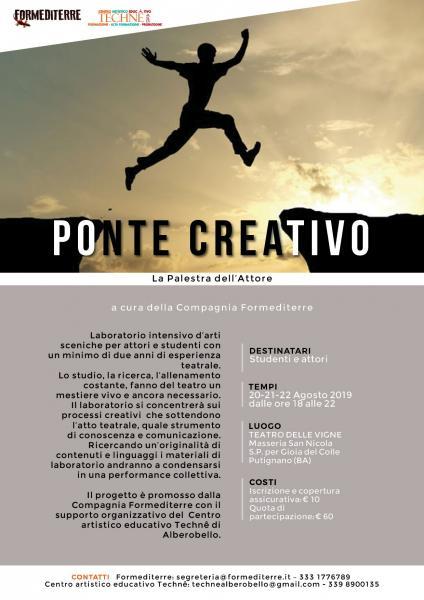 """La Palestra dell'Attore """"PONTE CREATIVO"""""""