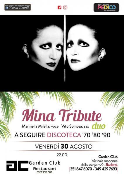 Mina tribute duo live a Barletta