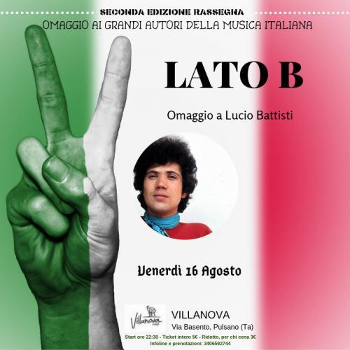 """Rassegna """"Omaggio ai grandi autori della musica italiana"""": Lato B in concerto """"Il canzoniere di Lucio Battisti in tour"""""""