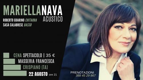 Cena Spettacolo con Mariella Nava in Masseria Francesca a Crispiano