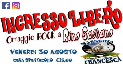 Cena spettacolo Venerdì 30 Agosto in Masseria Francesca a Crispiano