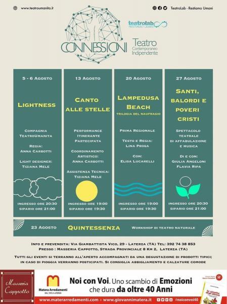CONNESSIONI- Teatro Contemporaneo Indipendente - Santi, Balordi e Poveri Cristi