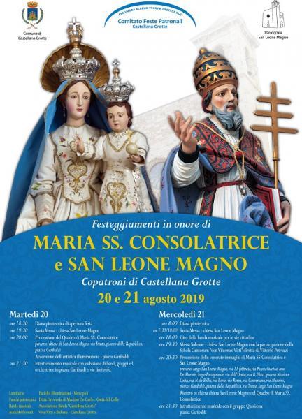 Festeggiamenti in onore di Maria SS. Consolatrice e S. Leone Magno