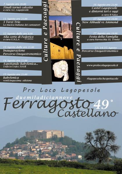 """Culture e Paesaggi per il prossimo """"Ferragosto Castellano"""""""