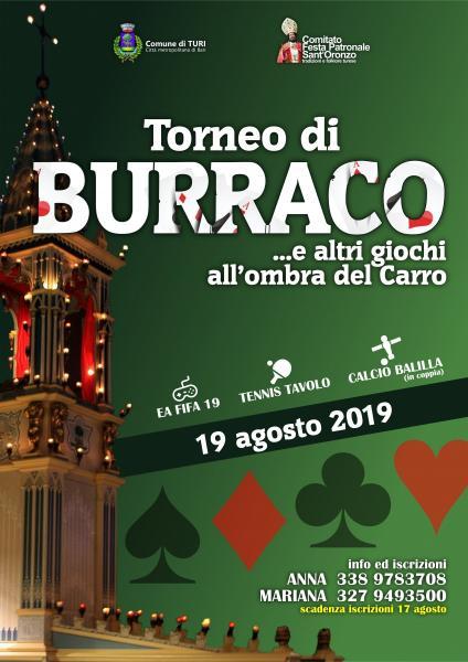 Torneo di Burraco & altri giochi...Aspettando Sant'Oronzo