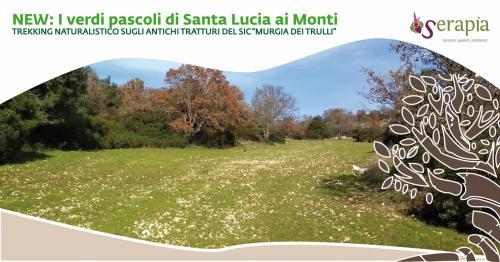 I verdi pascoli di Santa Lucia ai Monti al tramonto