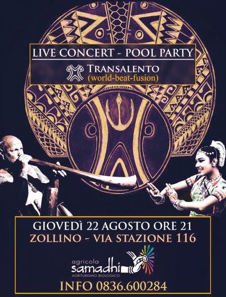 Live concert Transalento + pool party