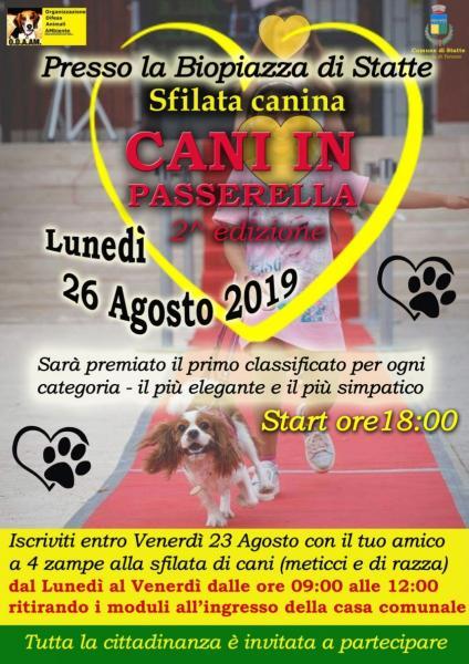 """2^ Edizione, Sfilata canina """"Cani in Passerella"""""""