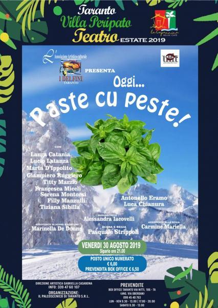 """""""PASTE CU PESTE"""" Rassegna Estiva Villa Peripato"""