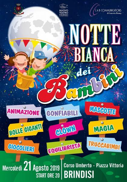 La notte bianca dei bambini a Brindisi