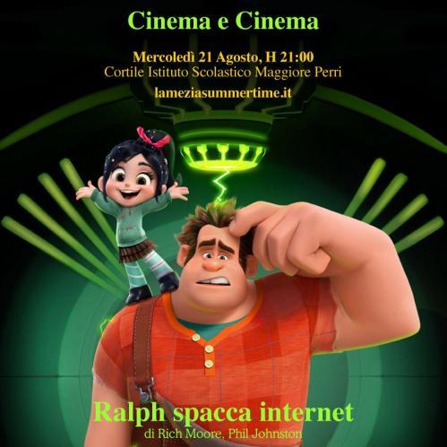 "Lamezia Summertime 2019. ""Ralph Spacca Internet "" a Cinema e Cinema"