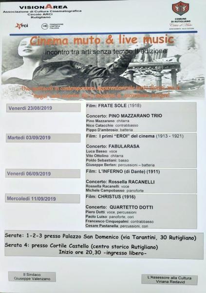 «Cinema muto & live music»: «Frate Sole» (1918) e Pino Mazzarano trio in concerto