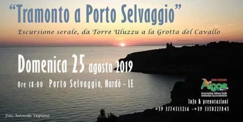 Tramonto a Porto Selvaggio. Escursione serale da Torre Uluzzu a la Grotta del Cavallo