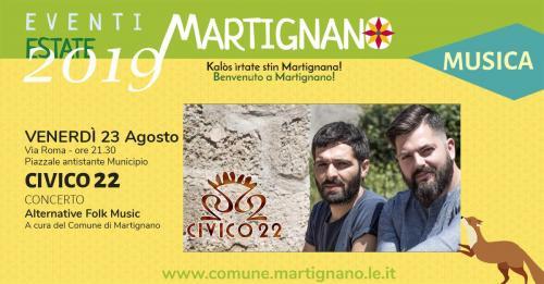 I Civico 22 live concert a Martignano
