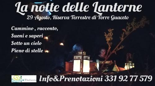 La Notte delle LANTERNE nella Riserva di Torre Guaceto