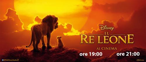 Sala1: IL RE LEONE (ore 19:00 e 21:00)