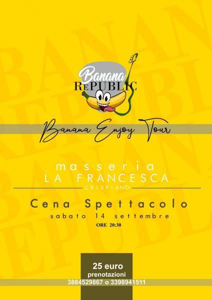"""Cena spettacolo """" Il sabato della Masseria Francesca"""""""