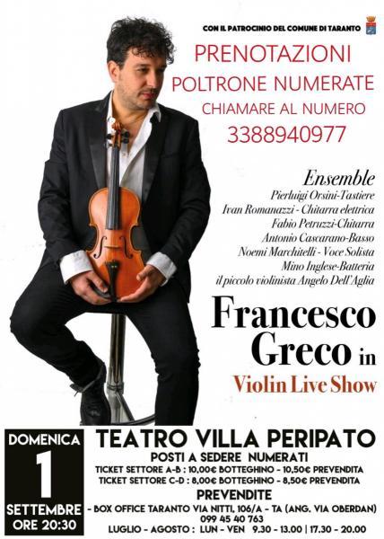 FrancescoGreco-Violin Live Show