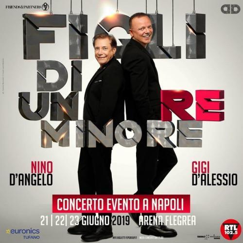 Gigi D'Alessio e Nino D'Angelo insieme live concert