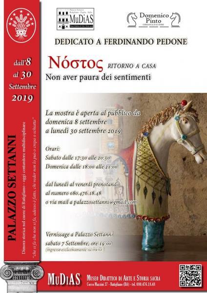 Νóστoς - Ritorno a casa - Mostra in onore di Ferdinando Pedone