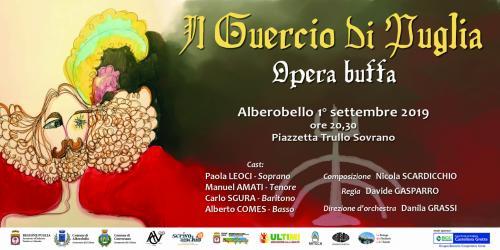 """""""Il Guercio di Puglia, tra parole e musica"""" on stage ad Alberobello"""