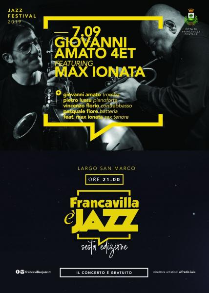 Giovanni Amato Quartet feat Max Ionata in concerto