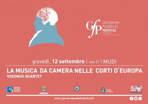 LA MUSICA DA CAMERA NELLE CORTI D'EUROPA con i VOXONUS QUARTET