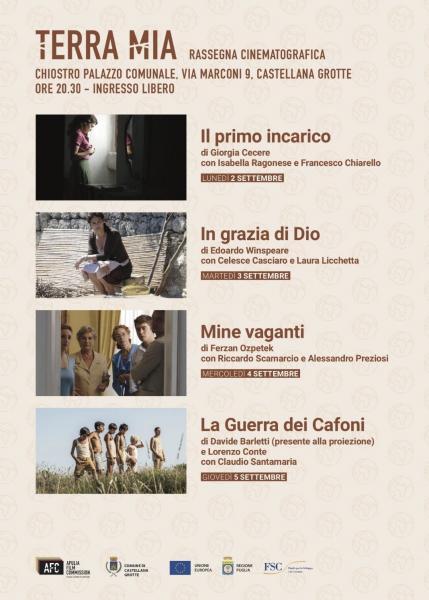 Al via il 2 settembre la Rassegna Cinematografica Terra Mia