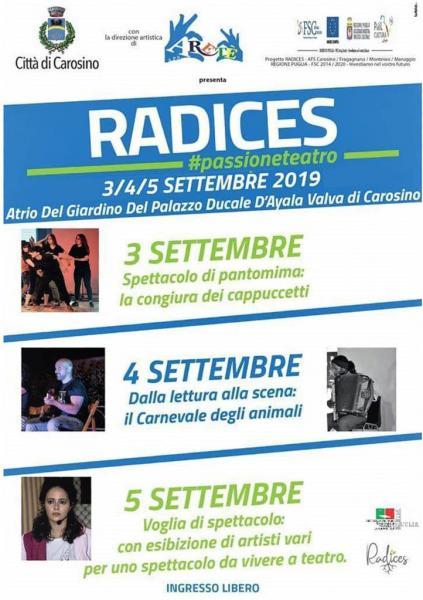 #PassioneTeatro RADICES