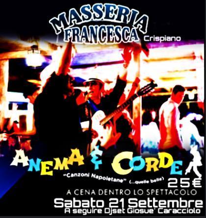 Cena spettacolo di fine Estate 2019 in Masseria Francesca