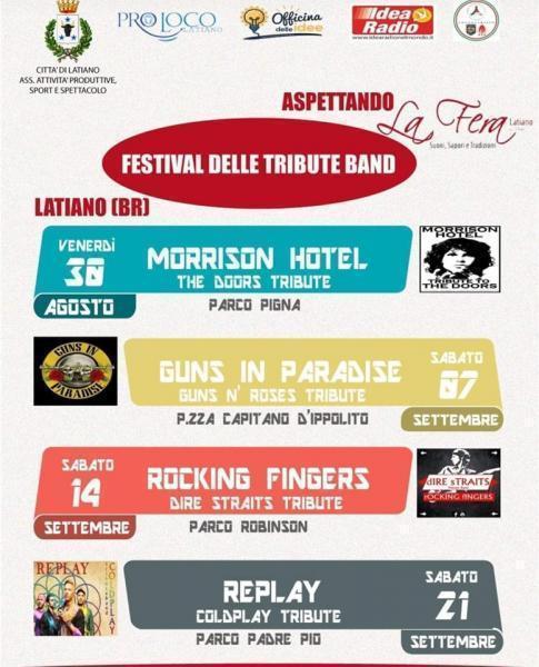 """I """"Rocking Fingers"""" per il Festival delle Tribute Band"""