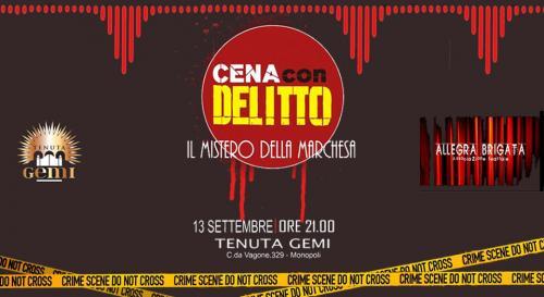 Venerdì 13 - Cena con Delitto a Tenuta Gemi
