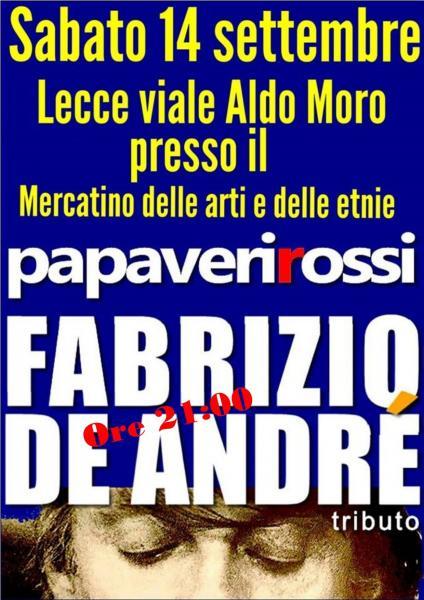 Papaveri Rossi- Fabrizio De Andrè - Tributo