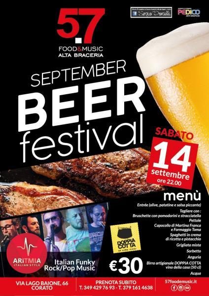 "September Beer Festival con gli ""Aritmia"""