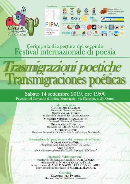 Cerimonia di apertura del II Festival internazionale di poesia
