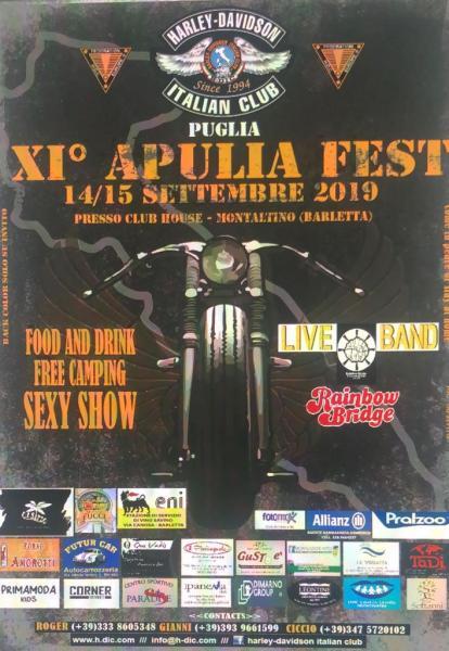 Rainbow Bridge in concerto al XI° Apulia Fest presso Club House - Montaltino