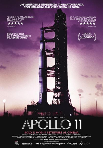 APOLLO 11 Un film di Todd Douglas Miller lunedì 9-martedì 10-mercoledì 11 settembre in esclusiva al VIGNOLA